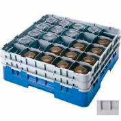 """Cambro 25S1214151 - Camrack Glass Rack Low Profile 25 Compartments 12-5/8"""" Max. Height Soft Gray - Pkg Qty 2"""