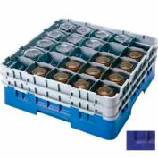 """Cambro 25S1214186 - Camrack Glass Rack Low Profile 25 Compartments 12-5/8"""" Max. Height Navy Blue - Pkg Qty 2"""