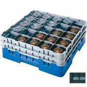 "Cambro 25S318110 - Camrack  Glass Rack 25 Compartments 3-5/8"" Max. Height Black NSF - Pkg Qty 5"