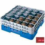 "Cambro 25S318163 - Camrack  Glass Rack 25 Compartments 3-5/8"" Max. Height Red NSF - Pkg Qty 5"