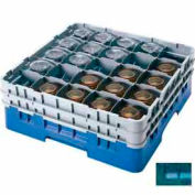 "Cambro 25S738414 - Camrack Glass Rack, Low Profile, 25 Compartments, 7-3/4"" Max. Height, Teal - Pkg Qty 3"