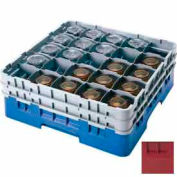 "Cambro 25S958416 - Camrack  Glass Rack 25 Compartments 10-1/8"" Max. Height Cranberry NSF - Pkg Qty 2"