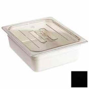 Cambro 30CWCH110 - Camwear Food Pan Cover, 1/3 Size, With Handle, Polycarbonate, Black, NSF - Pkg Qty 6
