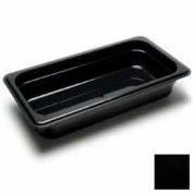 "Cambro 32CW110 - Camwear Food Pan, Plastic, 1/3 Size, 2-1/2"" Deep, Polycarbonate, Black, NSF - Pkg Qty 6"
