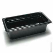 "Cambro 34CW135 - Camwear Food Pan, Plastic, 1/3 Size, 4"" Deep, Polycarbonate, Clear, NSF - Pkg Qty 6"