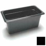 """Cambro 36CW110 - Camwear Food Pan, 1/3 Size, 6"""" Deep, Polycarbonate, Black, NSF - Pkg Qty 6"""