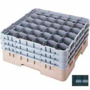 "Cambro 36S318110 - Camrack  Glass Rack 36 Compartments 3-5/8"" Max. Height Black NSF - Pkg Qty 5"