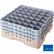 "Cambro 36S318168 - Camrack  Glass Rack 36 Compartments 3-5/8"" Max. Height Blue NSF - Pkg Qty 5"