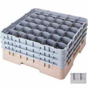 "Cambro 36S418151 - Camrack  Glass Rack Low Profile 36 Compartments 4-1/2"" Max. Ht. Gray NSF - Pkg Qty 5"