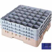 "Cambro 36S534186 - Camrack  Glass Rack Low Profile 36 Compartments 6-1/8"" Max. Ht., Navy Blue - Pkg Qty 4"