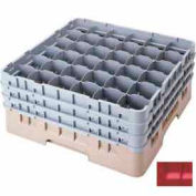 "Cambro 36S638163 - Camrack  Glass Rack 36 Compartments 6-7/8"" Max. Height Red NSF - Pkg Qty 3"