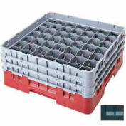 "Cambro 49S434110 - Camrack  Glass Rack 49 Compartments 5-1/4"" Max. Height, Black, NSF - Pkg Qty 4"