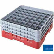 """Cambro 49S638168 - Camrack  Glass Rack 49 Compartments 6-7/8"""" Max. Height, Blue, NSF - Pkg Qty 3"""