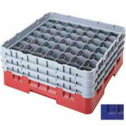 "Cambro 49S958186 - Camrack  Glass Rack 49 Compartments 10-1/8"" Max. Height, Navy Blue - Pkg Qty 2"