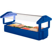 "Cambro 4FBRTT186 - Tabletop Salad Bar, 51""L x 27""H, Table Top, 4-Pan Size, Breathguard, Navy Blue"