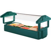 "Cambro 4FBRTT519 - Tabletop Salad Bar, 51""L x 27""H, Table Top, 4-Pan Size, Breathguard, Green, NSF"