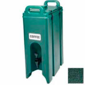 """Cambro 500LCD519 - Camtainer Beverage Carrier, 4-3/4 Gallon, 16-1/2""""D x 9""""W x 24-1/4""""H, Green"""