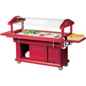 Cambro 5UBR158 - Ultra Food Bar with Cabinet Base 33x63, Hot Red