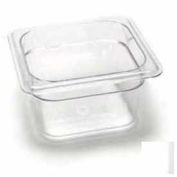 "Cambro 64CW135 - Camwear Food Pan, Plastic, 1/6 Size, 4"" Deep, Polycarbonate, Clear, NSF - Pkg Qty 6"