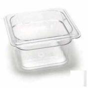 "Cambro 64CW135 - Camwear Food Pan, Plastic, 1/6 Size, 4"" Deep, Polycarbonate, Clear, NSF - Pkg Qty 6"