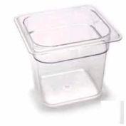 "Cambro 66CW135 - Camwear Food Pan, Plastic, 1/6 Size, 6"" Deep, Polycarbonate, Clear, NSF - Pkg Qty 6"