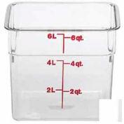 "Cambro 6SFSCW135 - Square Food Container, 6 Quart, 8-3/8"" x 8-3/8"" x 7-1/4"", Clear - Pkg Qty 6"