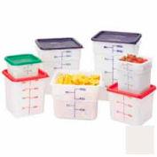 """Cambro 6SFSP148 - Square Food Container, 6 Quart, 8-3/8"""" x 8-3/8"""" x 7-1/4"""", White - Pkg Qty 6"""