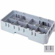 "Cambro 8HC258151 - Camrack  Cup Rack, 8 Compartments, 2-5/8"" Max. Height, Soft Gray, NSF - Pkg Qty 6"