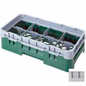 "Cambro 8HS318151 - Camrack  Glass Rack 8 Compartments 3-5/8"" Max. Height Soft Gray - Pkg Qty 5"