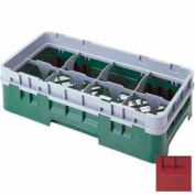 "Cambro 8HS318416 - Camrack  Glass Rack 8 Compartments 3-5/8"" Max. Height Cranberry - Pkg Qty 5"