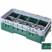 """Cambro 8HS434119 - Camrack  Glass Rack 8 Compartments 5-1/4"""" Max. Height Sherwood Green - Pkg Qty 4"""