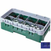"""Cambro 8HS434186 - Camrack  Glass Rack 8 Compartments 5-1/4"""" Max. Height Navy Blue NSF - Pkg Qty 4"""