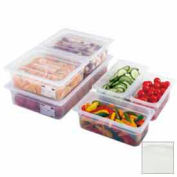 Cambro 90PPC190 - Food Pan Cover, 1/9 Size, Flat, Translucent - Pkg Qty 6