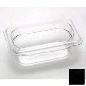 "Cambro 92CW110 - Food Pan, Plastic, 1/9 Size, 2-1/2"" Deep, Black - Pkg Qty 6"