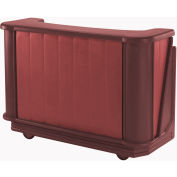 Cambro BAR650PMT189 - Mid Size w/Post-mix system Bag-in-box Syrup, Water Tank, Brown/Mahogany