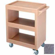 """Cambro BC225191 - Bus Cart 225 3"""" Casters(2 Fixed 2 Swivel 1 with Brake) Granite Gray"""