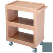 "Cambro BC225401 - Bus Cart 225 3"" Casters (2 Fixed 2 Swivel 1 with Brake) Slate Blue"