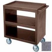 "Cambro BC230191 - Bus Cart 5"" Casters, 2 Fixed 2 Swivel 1 Brake, Polyethylene Exterior Granite Gray"