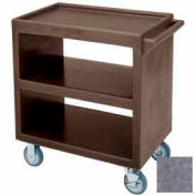 "Cambro BC2304S191 - Bus Cart 5"" Casters (4 Swivel 1 with Brake) Polyethylene Exterior Granite Gray"