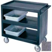 """Cambro BC235191 - Bus Cart 5"""" Casters (2 Fixed 2 Swivel 1 with Brake) Granite Gray"""
