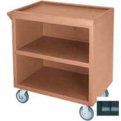 """Cambro BC330110 - Bus Cart 330 5"""" Casters (2 Fixed 2 Swivel 1 with Brake) Black NSF"""