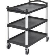 Cambro BC340KD110 - Service Cart Three Shelves Black, BC340KD110