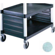 Cambro BC340KDP480 - Single Shelf Panel Set, for KD utility cart ONLY, speckled Gray