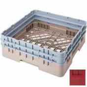 "Cambro BR578416 - Camrack  Base Rack 5-7/8"" Inside Stack Height Cranberry NSF - Pkg Qty 4"