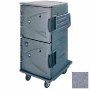 "Cambro CMBHC1826TBC191 - Hot Cold Cart Tall Profile Granite Gray Celsius 10"" Rear Casters"