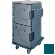 """Cambro CMBHC1826TSC192 - Hot Cold Cart Tall Profile Granite Green Celsius 6"""" Rear Casters"""