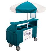"Cambro CVC72192 - Camcruiser Vending Cart, 1 full size pan, 6"" deep, Granite Green"