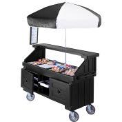 """Cambro CVC724110 - Camcruiser Vending Cart, 4 full size pans, 6"""" deep, Black"""