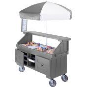 "Cambro CVC724191 - Camcruiser Vending Cart, 4 full size pans, 6"" deep, Granite Gray"