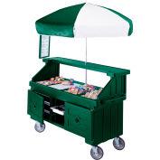 "Cambro CVC724519 - Camcruiser Vending Cart, 4 full size pans, 6"" deep, Green"